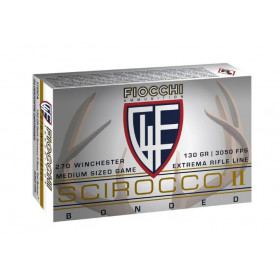 Fiocchi Extrema 270 Winchester, 130 GR Swift Scirocco II, Box of 20