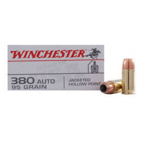 Winchester USA 380 ACP, 95 GR JHP, Box of 50