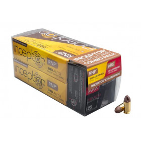 Inceptor Sport and Carry Combo Pack, 380 ACP, 56 GR ARX Preferred Defense and 60 GR RNP Sport Utility Frangible Lead-Free, Box of 125
