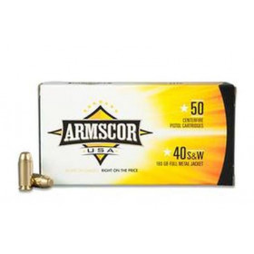 Armscor .40 S&W, 180 GR FMJ, Box of 50