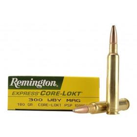 Remington Core-Lokt 300 Weatherby Magnum, 180 GR PSP, Box of 20